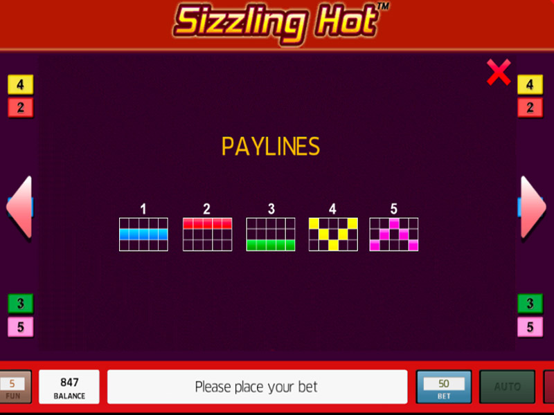illustration of a gaming machine Sizzling Hot 2